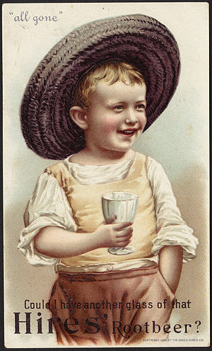Hires Root Beer - 19th Century American Trade Card for Hires Root Beer, 1894.
