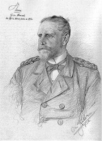Eduard von Knorr - Portrait of Eduard von Knorr by Christian Wilhelm Allers, 1891