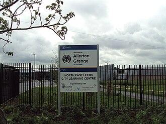 Allerton Grange School - Image: Allerton Grange school sign, Moortown, Leeds DSC07615