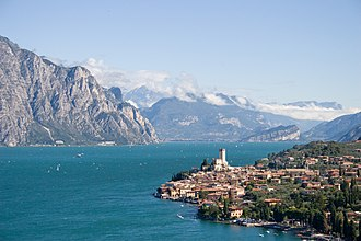 Geography of Italy - Lake Garda is the largest of the Italian lakes.