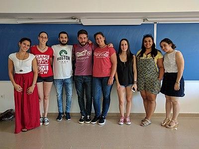 Algunos alumnos del grado de Publicidad y Relaciones Públicas que participan en el Proyecto de Innovación docente del curso 2016/17