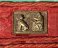 Ambito di nicola pisano, placchette della sacra cintola della cattedrale di pisa, 1280 ca., 13 san luca.jpg