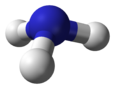 Ball-and-stick model of ammonia
