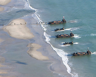 Over-the-beach capability - Royal Marines conducting an amphibious warfare exercise
