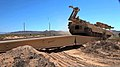 An M104 Wolverine tests its deployable bridge capability during training at the military reservation in Orogrande, N.M., April 1, 2012 120401-A-DL887-002.jpg