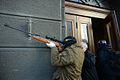 An unindentified protester armed with a rifle. Clashes in Kyiv, Ukraine. Events of February 18, 2014.jpg