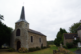 The old church of Saint-Lunaire, in Saint-Lormel