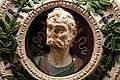 Andrea della robbia, tondo con busto di imperatore, 1492 (napoli, certosa di san martino) 02.jpg