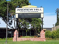 Andrew Hill High School billboard.jpg