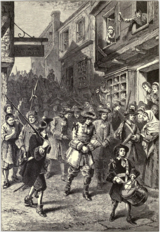 An illustration of the arrest of Sir Edmund Andros