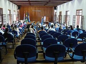 Taubaté - Inside a class room of the University of Taubate