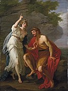 Angelica Kauffmann - Calypso calling heaven and earth to witness her sincere affection to Ulysses