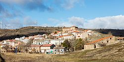 Skyline of Anquela del Ducado, Spain