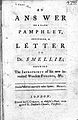 Answer to a pamphlet intituled a letter to Dr. Smellie Wellcome L0000453.jpg