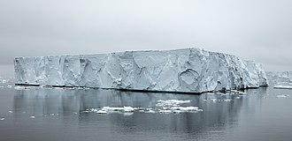 Iceberg - Tabular iceberg, near Brown Bluff in the Antarctic Sound off Tabarin Peninsula