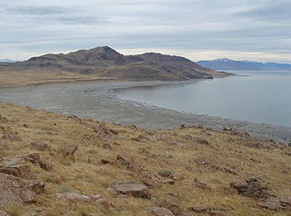 island in the Great Salt Lake in Davis County, Utah, United States