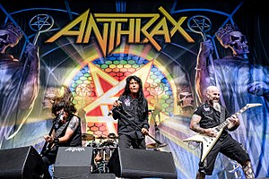 New York band Anthrax were among the earliest and most successful thrash acts Anthrax Rockavaria 2016 (12 von 12).jpg
