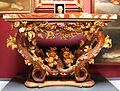 Antonio chiericati su disegno di gian lorenzo bernini , tavolo con quercia chigiana, cornucopie, fiori e frutta (ariccia, pal. chigi).JPG