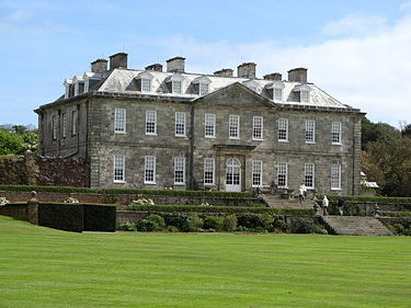 Antony House in Cornwall, England, which served as Lord Ascot's estate in the film Antony House 03.jpg