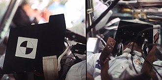 Cosmic ray visual phenomena - Apollo 17: Astronaut wearing ALFMED light-flash detector during the Earth Moon transit.