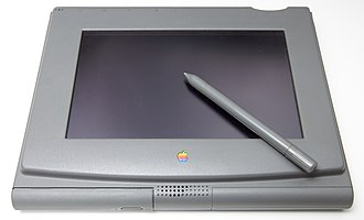 The PenLite is Apple's first prototype of a tablet computer. Created in 1992, the project was designed to bring the Mac OS to a tablet - but was canceled in favor of the Newton. Apple PenLite prototype, 1992.jpg