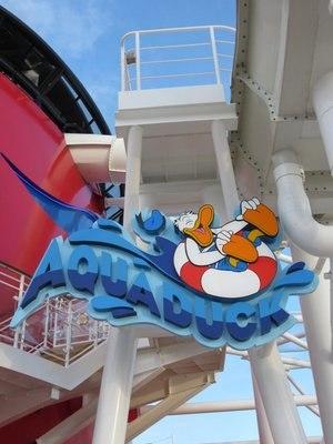 AquaDuck - Entrance to the AquaDuck aboard the Disney Dream.