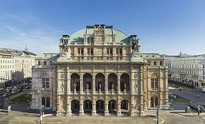 So kommt man zu dem Wiener Staatsoper mit den Öffentlichen - Mehr zum Ort Hier