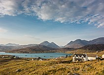 Ardhasaig with Clisham, Isle of Harris (13567370923).jpg