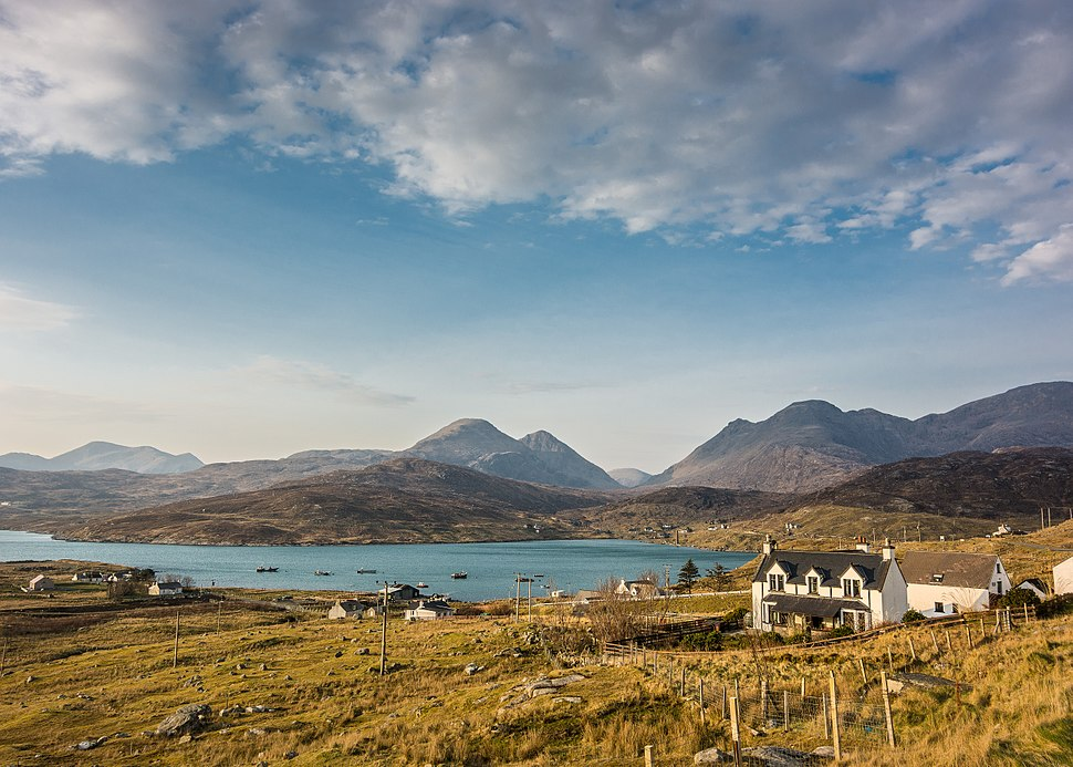 Ardhasaig with Clisham, Isle of Harris (13567370923)