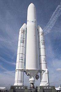 En model af en Ariane 5 raket