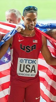 Arman Hall USA relay 2013.jpg