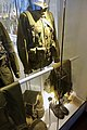 Army uniforms of Norway. Field uniform (feltuniform) M1975 with 1980s equipment. Camouflage jacket Belt Straps Ammunition pouches Trousers Boots Backpack Helmet Cap etc. Armed Forces Museum (Forsvarsmuseet) Oslo 2020-02- 3067.jpg