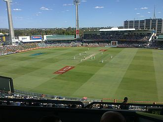 2010–11 Ashes series - Australian openers on day 2 of the Third Test at the WACA Ground