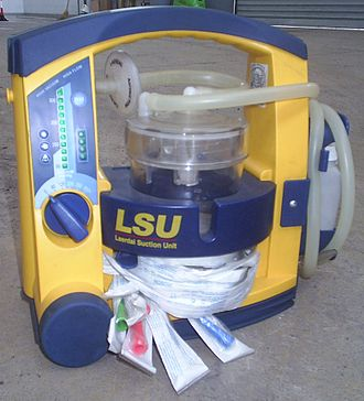 Suction (medicine) - The portable suction unit of an ambulance