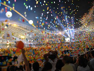 Jack Morton Worldwide - Balloons falling at the Athens 2004 Olympics Closing ceremony
