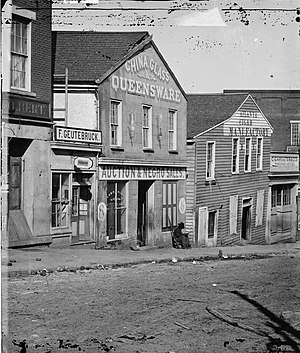 History of Atlanta - A slave auction house on Whitehall Street
