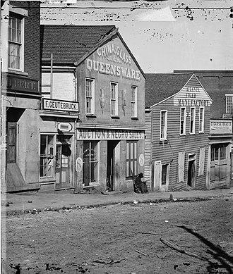 History of Atlanta - A slave auction house on Whitehall Street