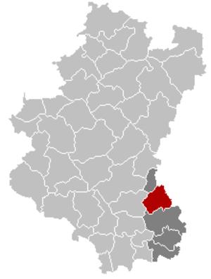 Attert - Image: Attert Luxembourg Belgium Map