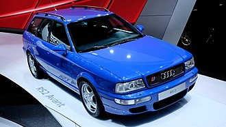 "Audi S and RS models - Audi RS2, the original Audi ""RS"" car, a joint venture between Audi and Porsche from 1994 — 1995. All subsequent RS models would be solely produced by quattro GmbH (Now Audi Sport GmbH)."