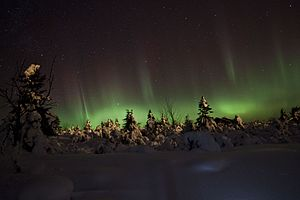 Scandinavian Mountains Airport - Aurora borealis photographed in Trysil, Norway.