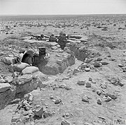 Australian troops man front-line trenches in the Tobruk perimeter, 13 August 1941