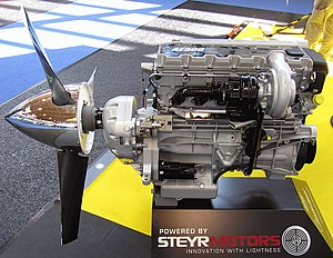Austro Engine - The AE500 on display
