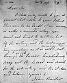 Autograph letter from John Hunter to Edward Jenner. Wellcome L0016575.jpg