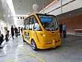 Autonomous bus at Sjællands Universitetshospital, Køge - Opening 02.jpg