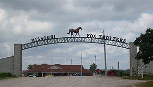 Missouri Fox Trotter - Entrance to the Missouri Fox Trotter showground north of Ava, Missouri