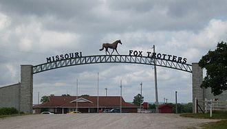 Ava, Missouri - Entrance to the Missouri Fox Trotter showground north of Ava, Missouri