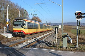 Stadtbahn train at Wieslensdorf Halt