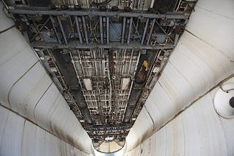 Bomb bay - Inside the bomb bay of an Avro Shackleton