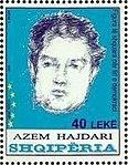 Azem Hajdari 2008 stamp of Albania.jpg