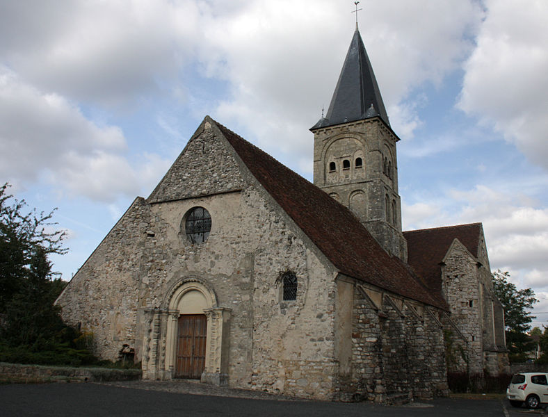 Saint Felix church in Azy-Sur-Marne, France.